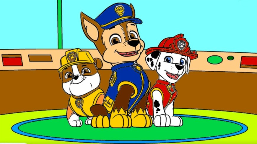 Chase Coloring Page Paw Patrol Coloring Pages Rubble Chase Marshall Paw Patrol