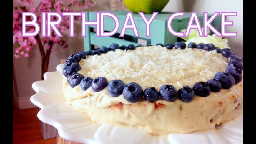 Cheap Birthday Cakes Lemon Blueberry Birthday Cake Cheap Clean Eats Youtube