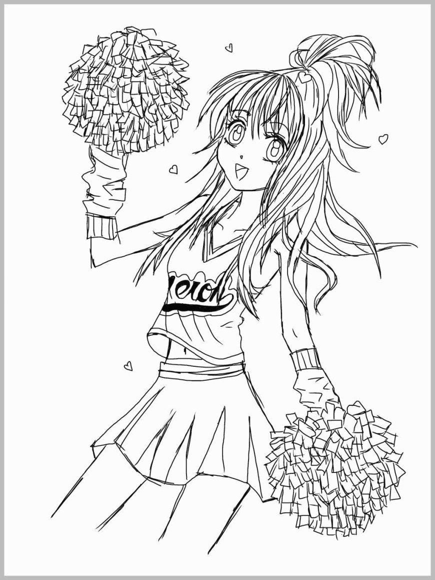Cheerleader Coloring Pages 66 Amazing Photograph Of Cheerleader Coloring Pages Best Of