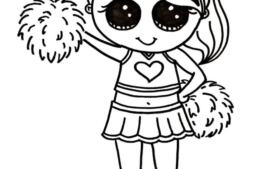 Cheerleader Coloring Pages Cheerleading Color Pages Coloring With Hello Kitty Cheerleader Page