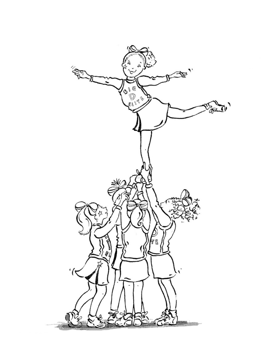 Cheerleader Coloring Pages Free Printable Cheerleading Coloring Pages For Kids