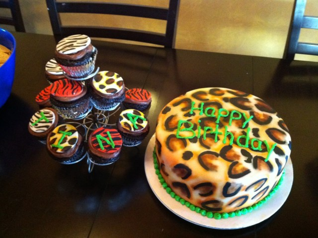 Cheetah Birthday Cake Cakes Jake Tinas Cheetah Birthday Cake