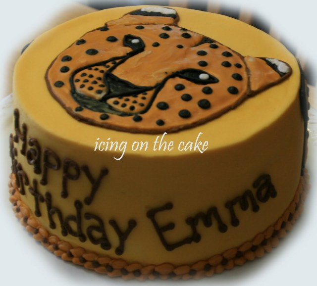 Cheetah Birthday Cake The Icing On The Cake Emmas 7th Birthday Cake