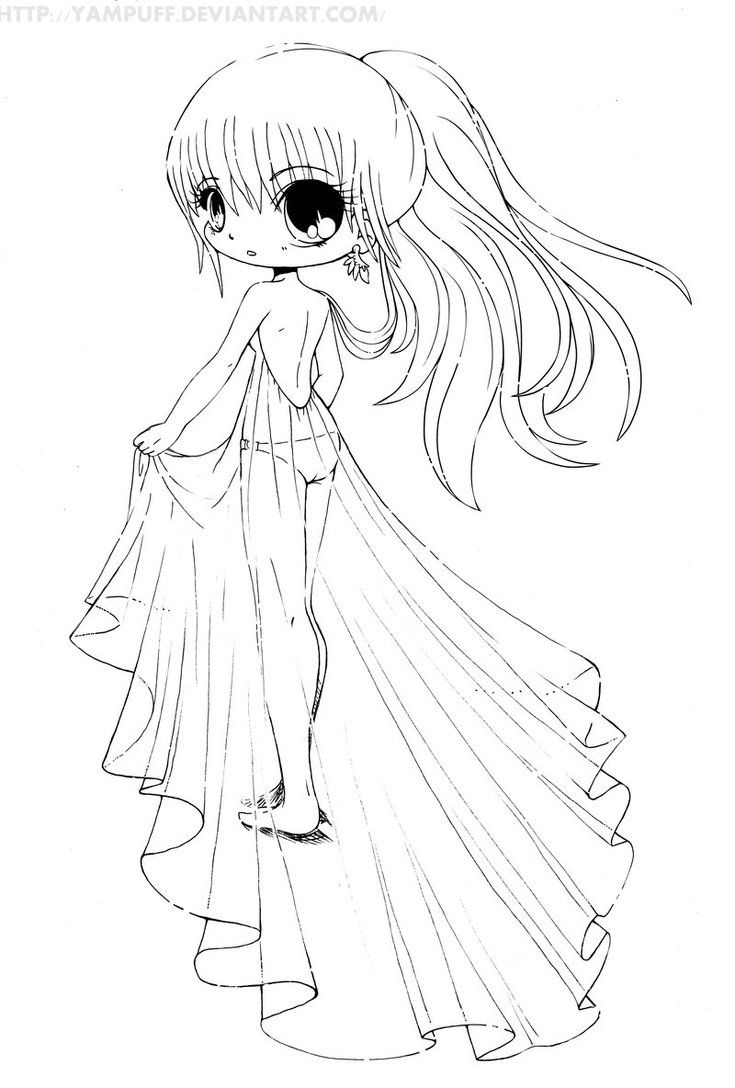 Chibi Coloring Pages Chibi Anime Coloring Pages Coloring Home
