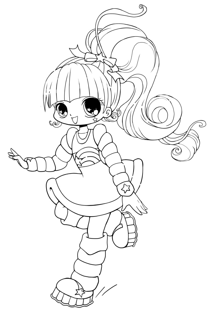 Chibi Coloring Pages Printable Chibi Coloring Pages Coloringstar