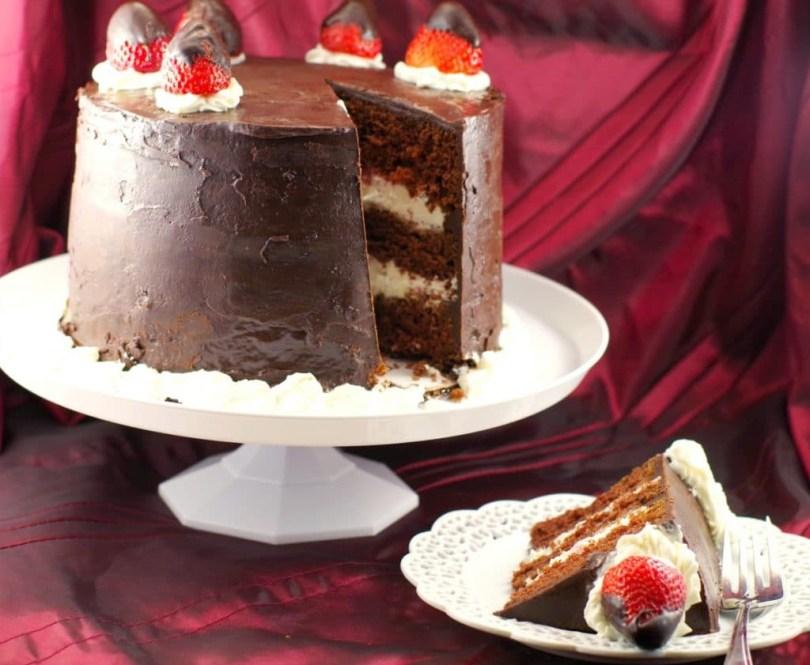 Chocolate Birthday Cake Recipe Red Wine Strawberry Chocolate Fudge Cake Food Meanderings