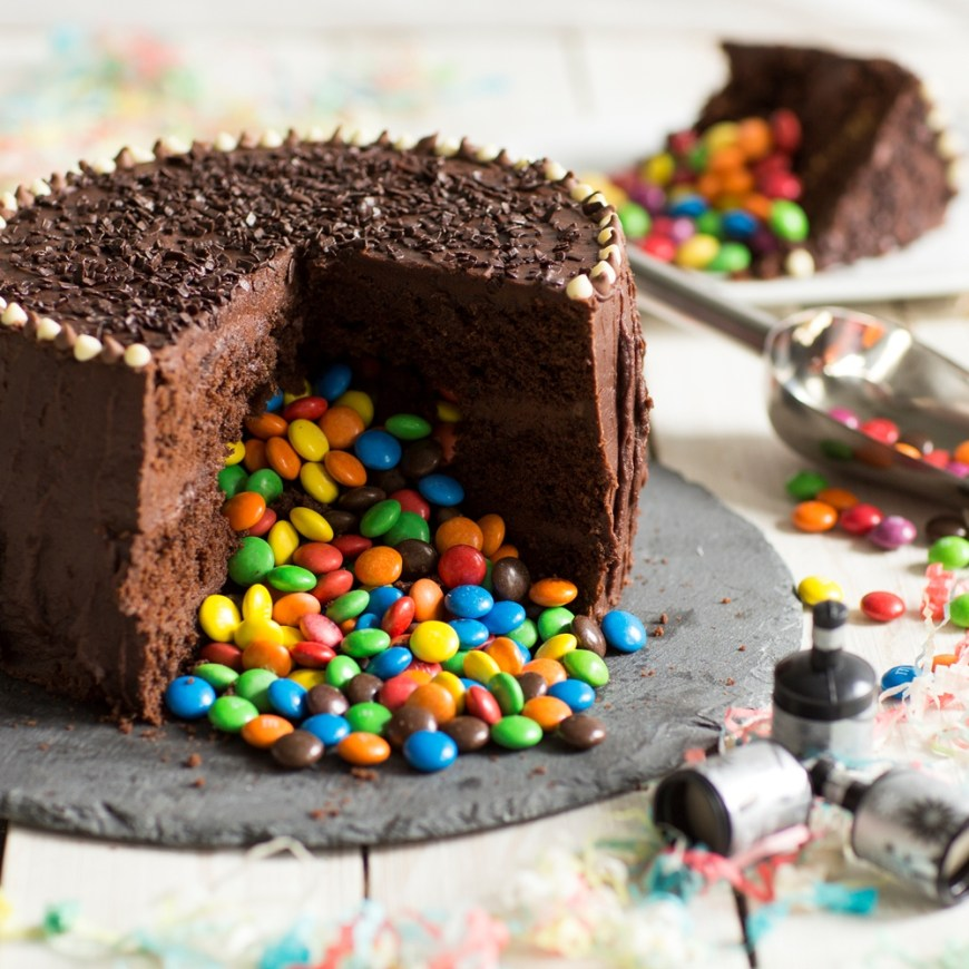 Chocolate Birthday Cake Recipe Trick Or Treat Chocolate Piata Cake Baking Mad