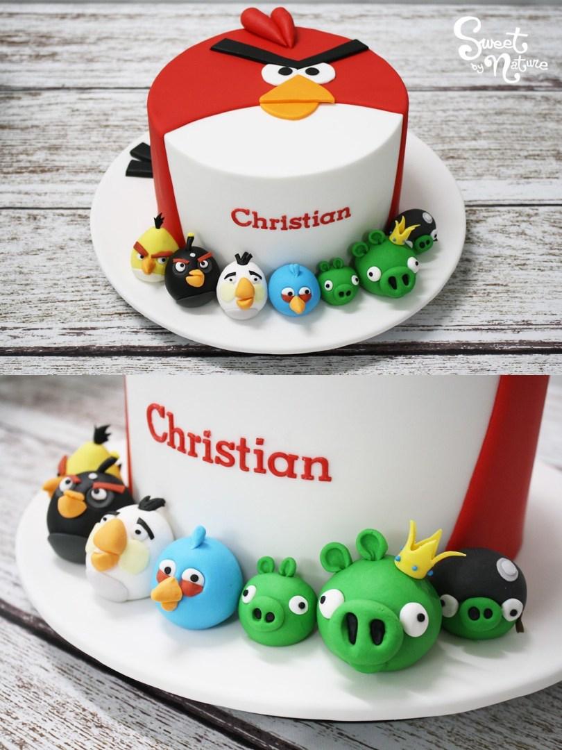 Christian Birthday Cakes Angry Birds Themed Birthday Cake For Christian Made Sweet
