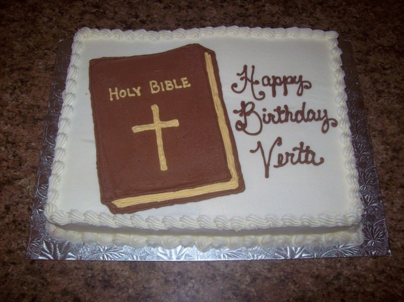 Christian Birthday Cakes Bible Birthday Cake Cakecentral
