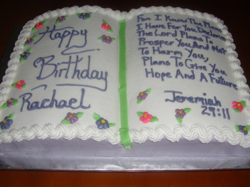 Christian Birthday Cakes Bible Themed Birthday Cake Cakecentral