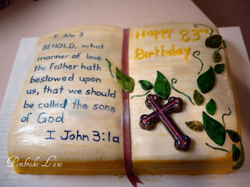 Christian Birthday Cakes Bible Verse Birthday Cards Happy Birthday Pinterest Cake