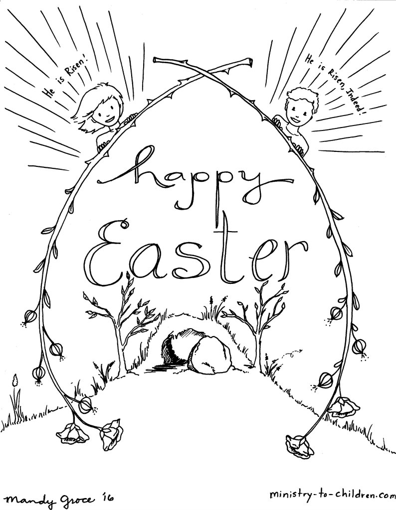 Christian Easter Coloring Pages Religious Easter Coloring Pages ...