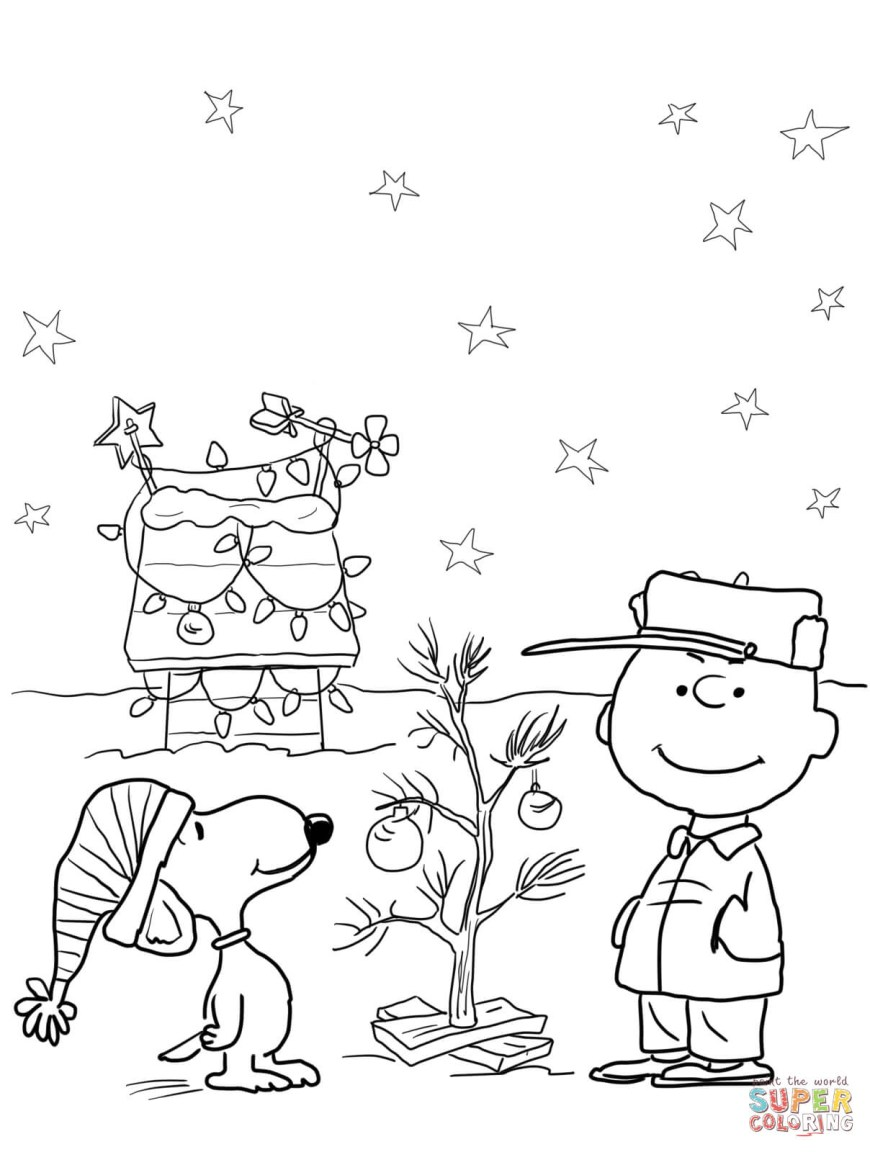 Christmas Coloring Pages Charlie Brown Christmas Coloring Page Free Printable Coloring Pages