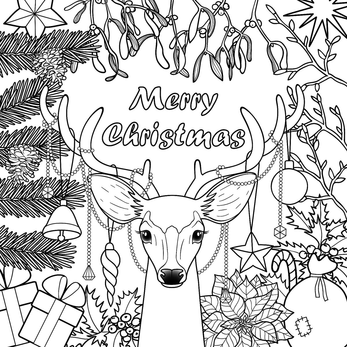 Christmas Coloring Pages Christmas Coloring Pages With Girls Sheets ...
