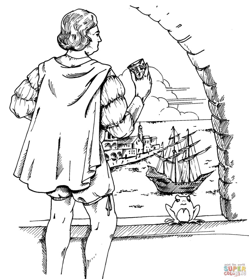 Christopher Columbus Coloring Page Christopher Columbus Coloring Page Free Printable Coloring Pages