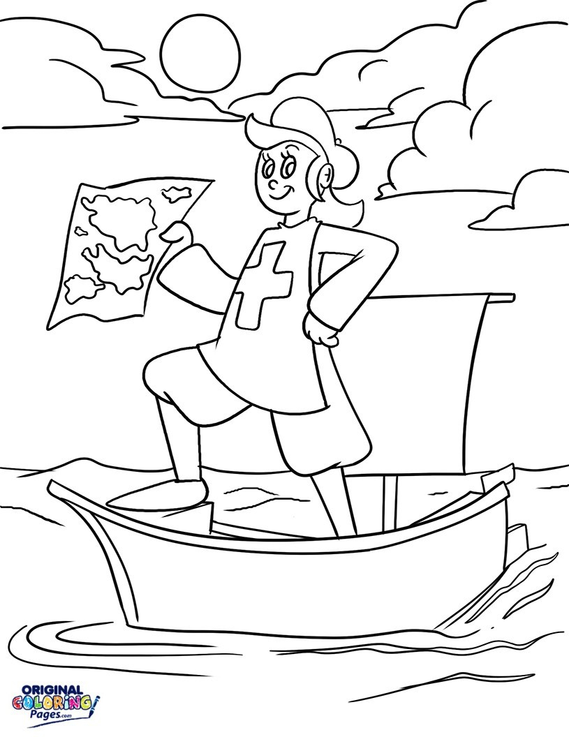 Christopher Columbus Coloring Page Christopher Columbus Coloring Page Pages Original Celebrate This Day