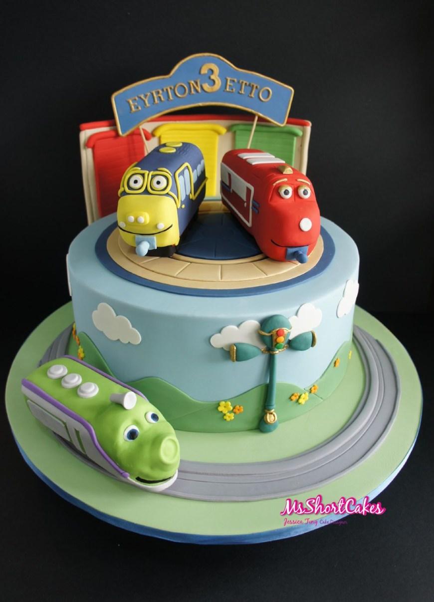 Chuggington Birthday Cake Chugginton Cake Koko Brewster And Wilson Birthday Cakes For Kids