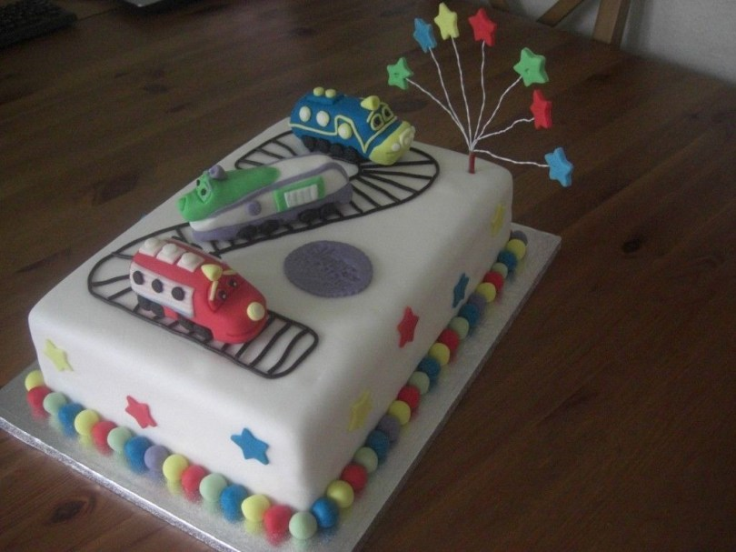 Chuggington Birthday Cake This Was The Cake I Made After All That Pinning Of Chuggington Cakes