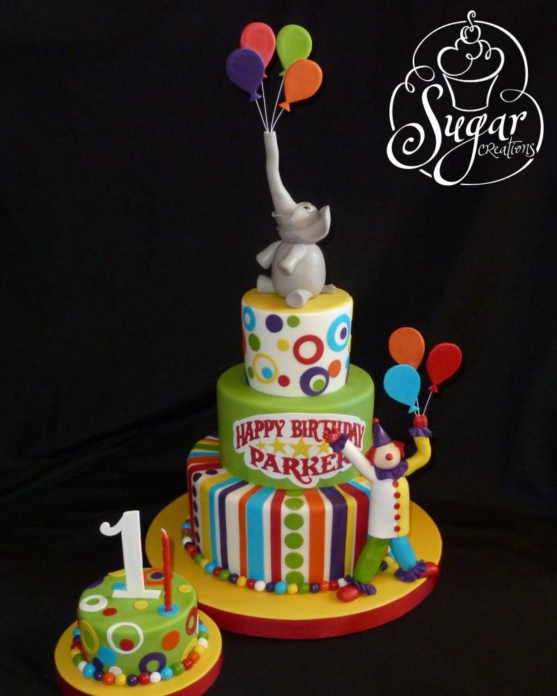 Circus Birthday Cakes Circus Birthday Cake Circus Theme First Birthday Rice Kri Flickr