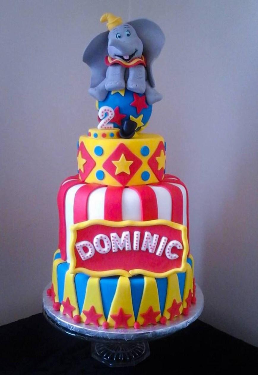 Circus Birthday Cakes Dumbo Circus Birthday Cake Cakecentral