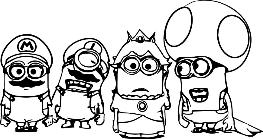 Color Pages Online Awful Minion Colouring Pages Incridible Coloring Background For