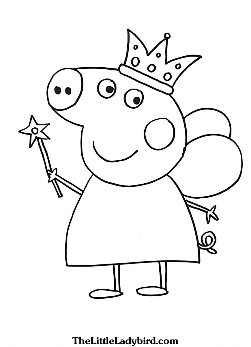Color Pages Online Free Online Peppa Pig Coloring Pages