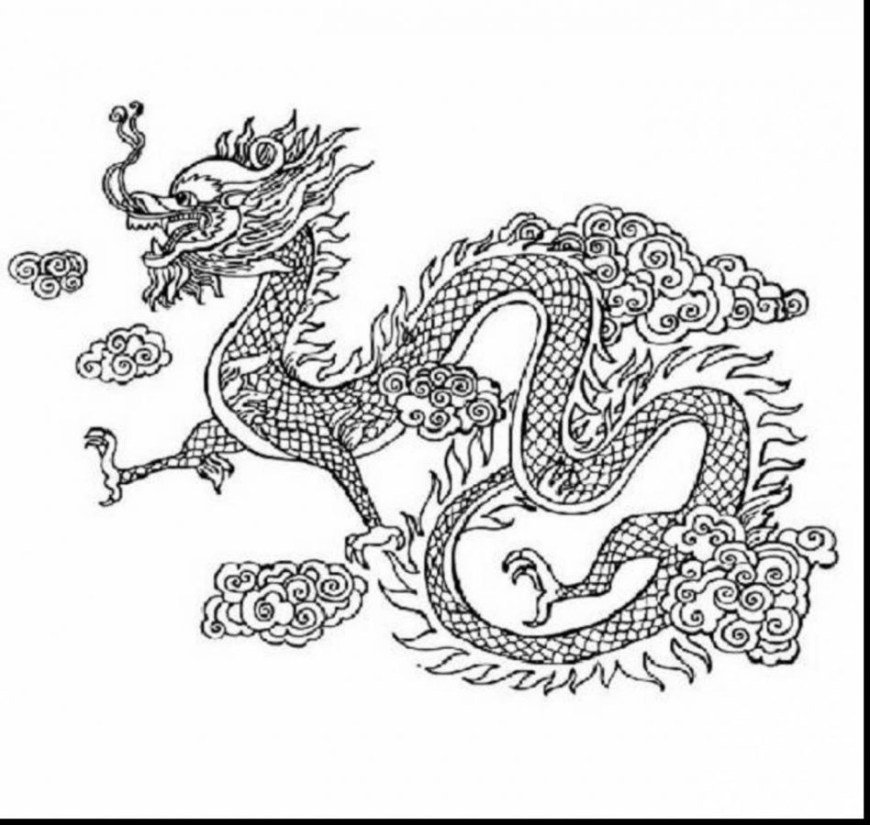 Coloring Pages Dragons Coloring Pages Chinese Dragon Warm Gekoweb Net Intended For 4