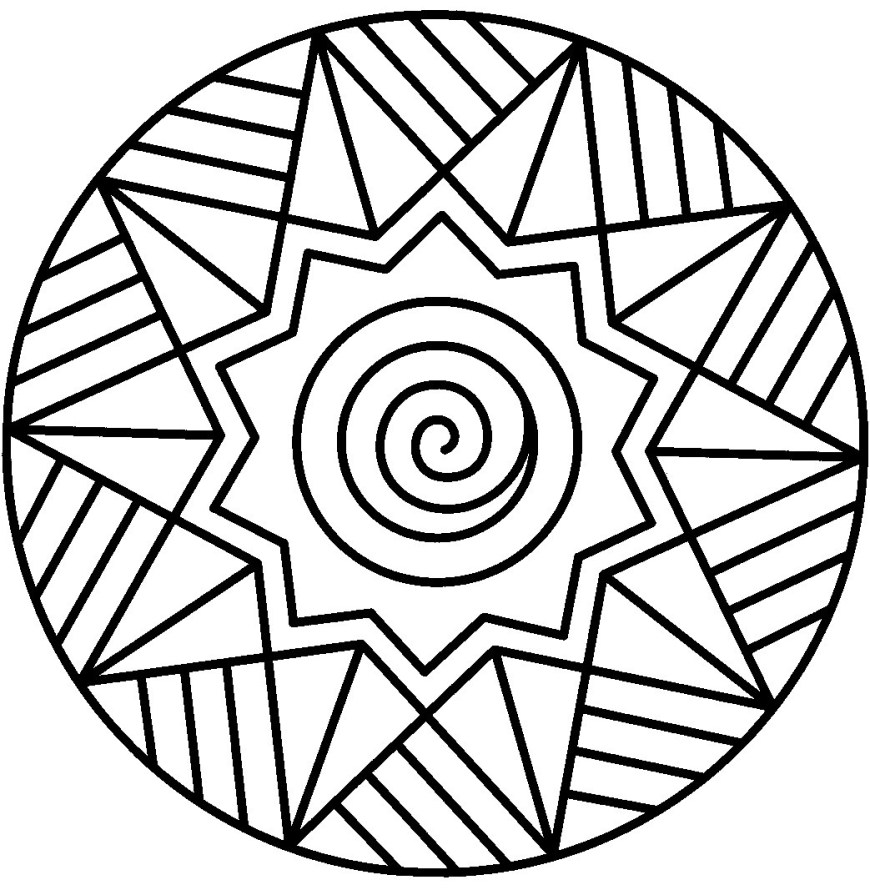 Coloring Pages Mandala Coloring Page Stunning Online Mandala Coloring
