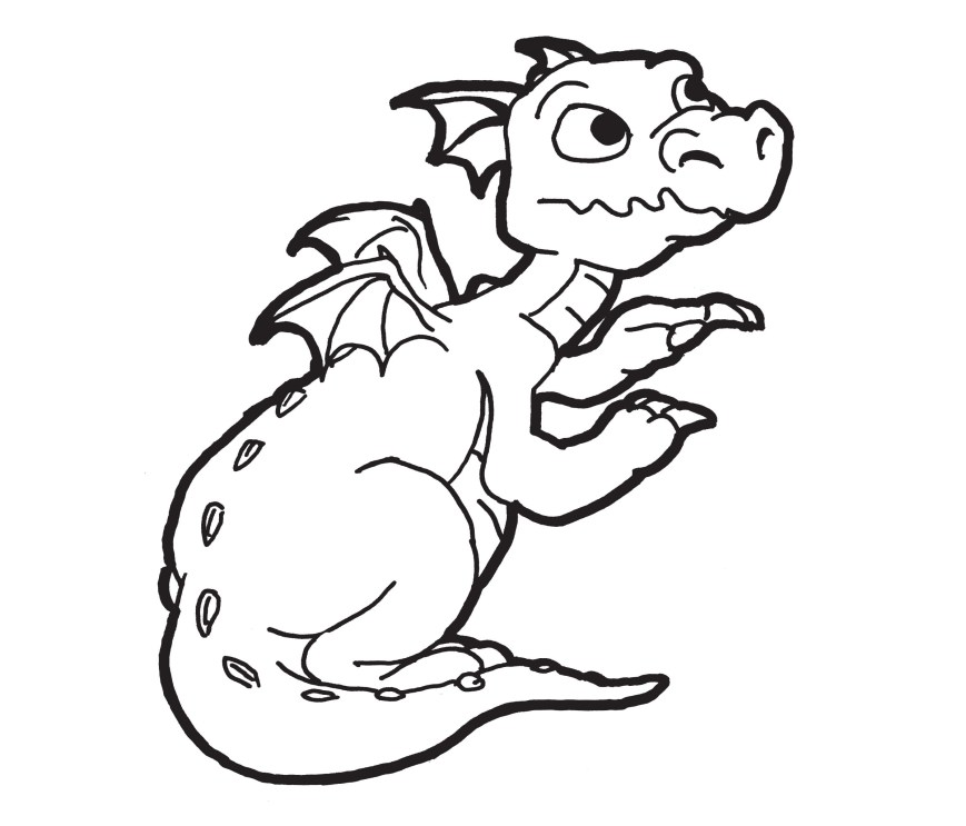 Coloring Pages Of Dragons Free Dragon Coloring Pages