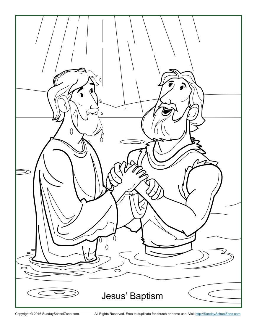 Coloring Pages Of Jesus Baptism Coloring Pages Jesus Page Children S Bible Activities Sunday