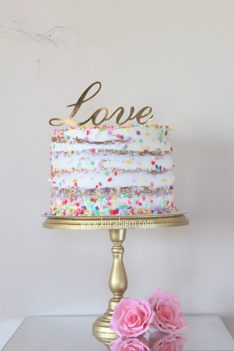 Confetti Birthday Cake Birthday Cake Naked Cake Engagement Cake Love Cake Confetti