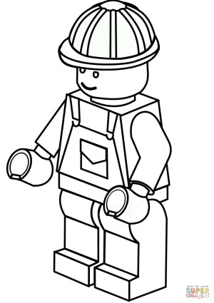 Construction Coloring Pages Lego Construction Worker Coloring Page Free Printable Coloring Pages