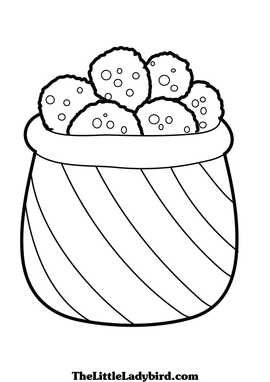 Cookie Coloring Pages Free Cookies Coloring Page Thelittleladybird