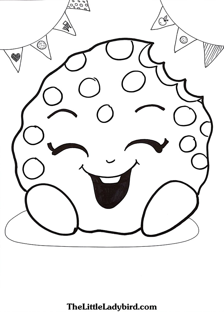 Cookie Coloring Pages Free Kooky Cookie Shopkins Coloring Page Thelittleladybird