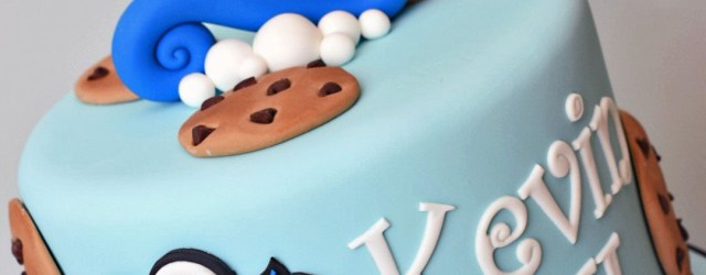 Cookie Monster Birthday Cake Cookie Monster Theme 1st Birthday Cake K Noelle Cakes Cakes