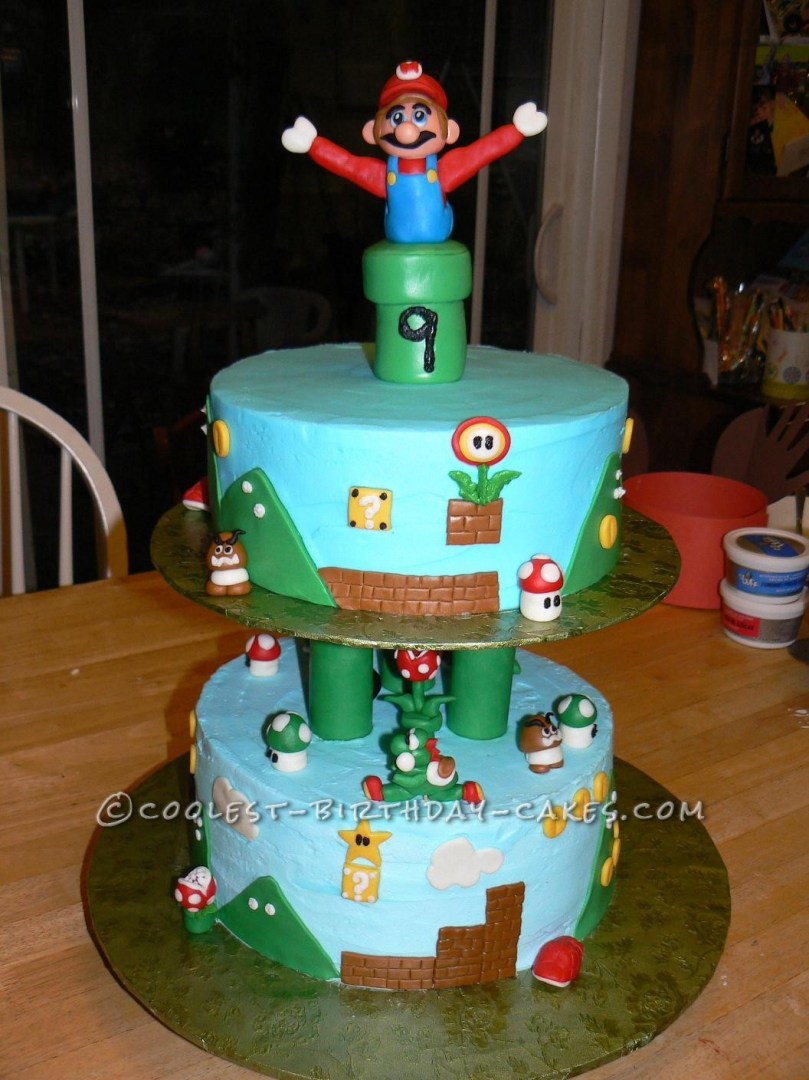 Cool Birthday Cake Cool Mario Birthday Cake