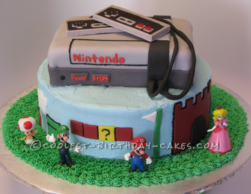 Cool Birthday Cake Coolest Ninetendos Super Mario Brothers Birthday Cake