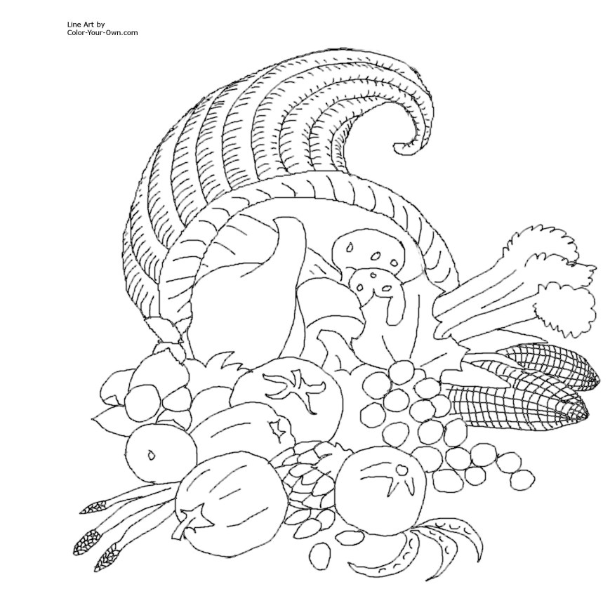 Cornucopia Coloring Pages Coloring Page Lion Beautiful Collection Simple Cornucopia Coloring