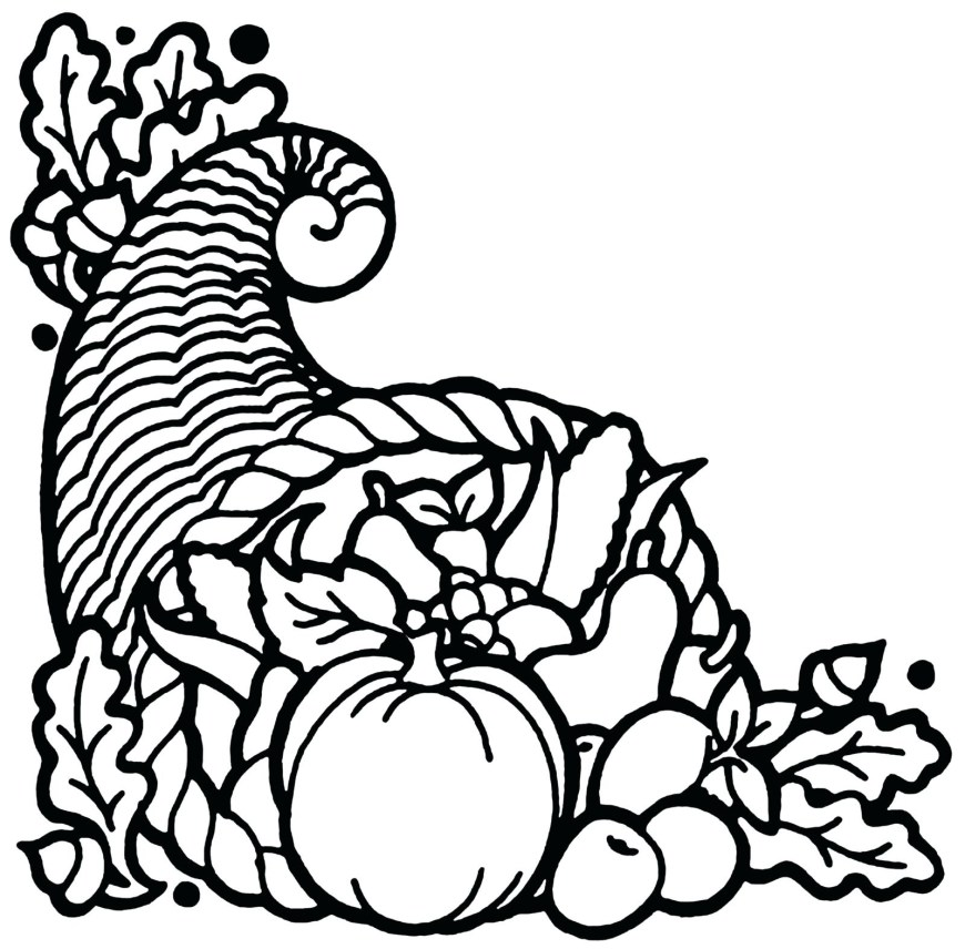 Cornucopia Coloring Pages Cornucopia Coloring Pages Pictures To Color Sheet Empty Printable