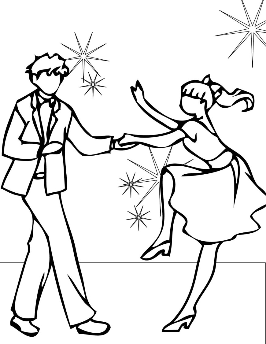 Couple Coloring Pages Dance Couple Coloring Pages Coloringstar