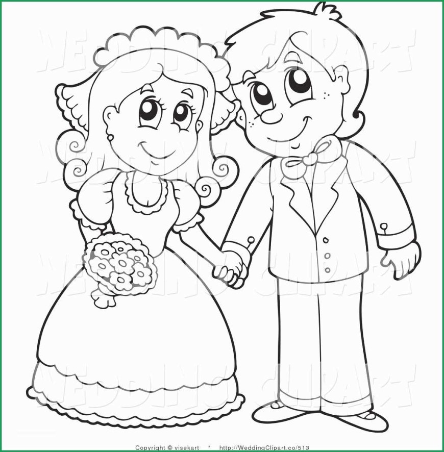 Couple Coloring Pages Wedding Couple Coloring Pages Elegant Vector A Cartoon Western