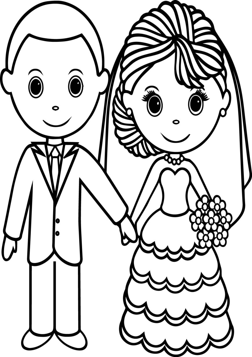 Couple Coloring Pages Wedding Couple Coloring Pages Wecoloringpage