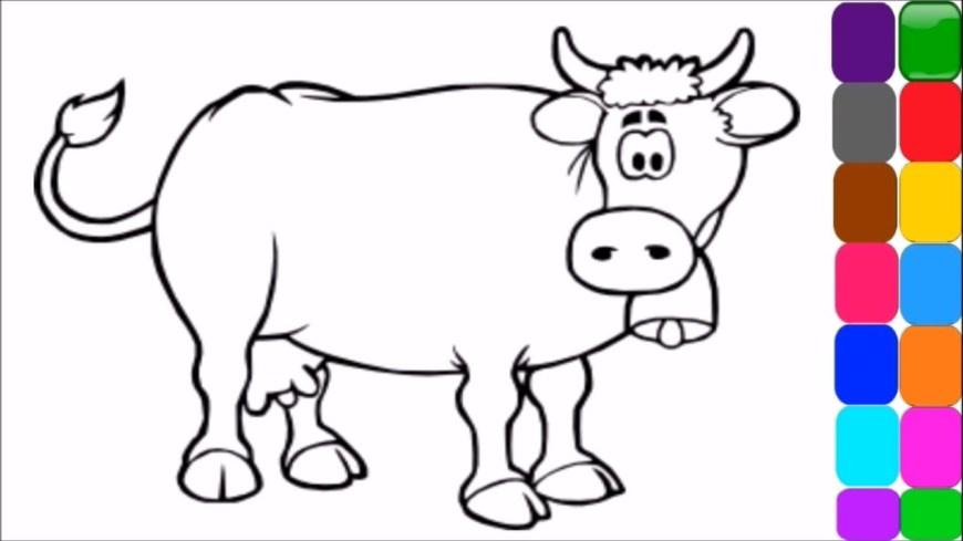 Cow Coloring Page Coloring Pages Of Cows Plasticulture