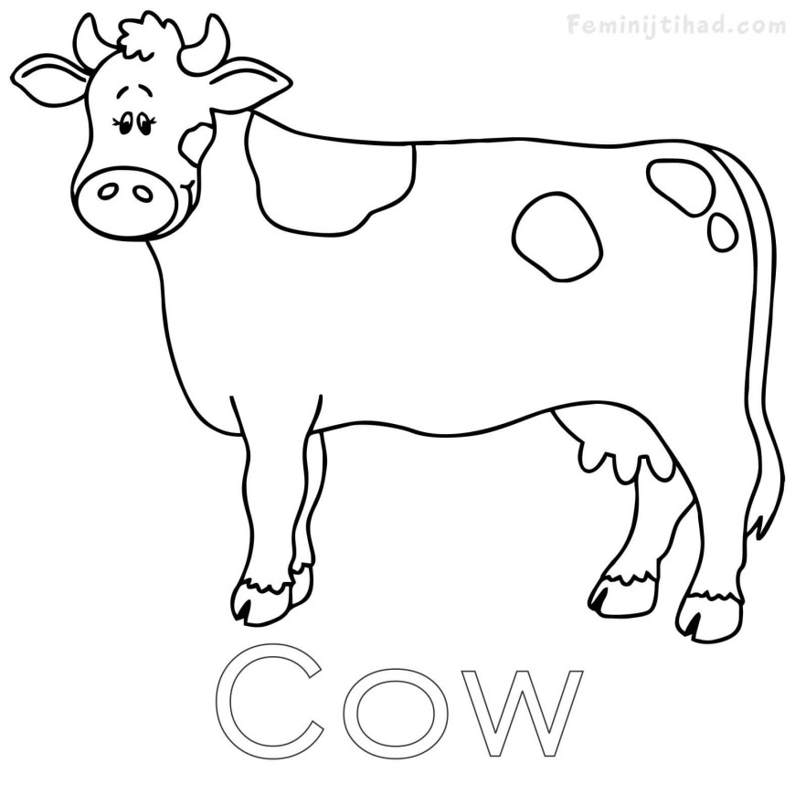 Cow Coloring Page Cow Coloring Pages Free To Print For Kids Best Of Page Ba Boom