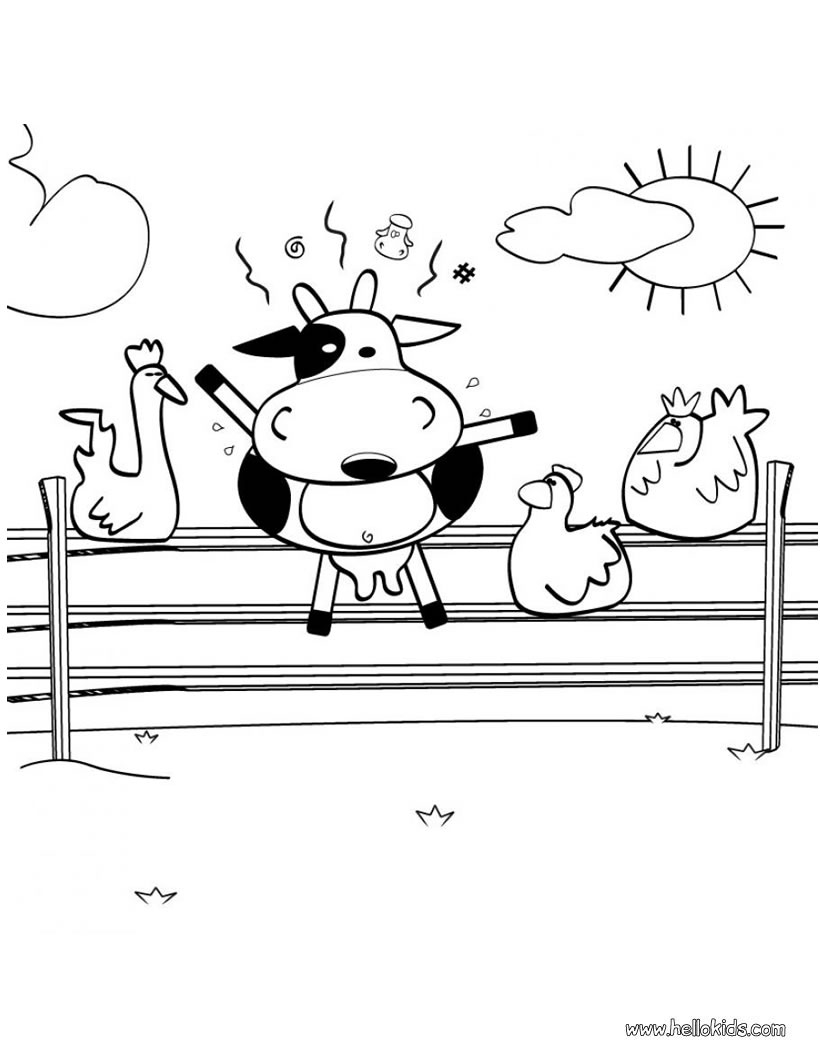 Cow Coloring Page Crazy Cow Coloring Pages Hellokids