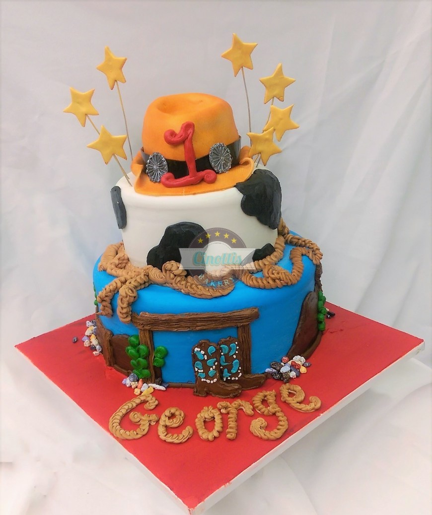 Cowboys Birthday Cake Cowboy Birthday Corral A Birthday Cake From Cinottis Bakery