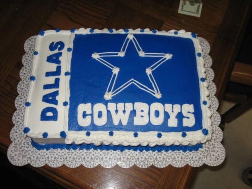 Cowboys Birthday Cake Dallas Cowboy Birthday Cake Cakecentral