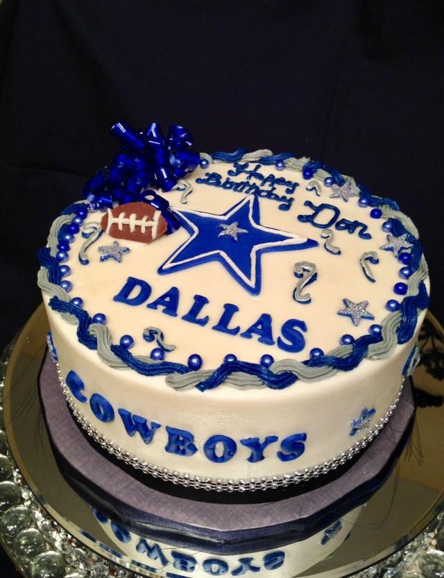 Cowboys Birthday Cake Dallas Cowboy Marie Decorating Pinterest
