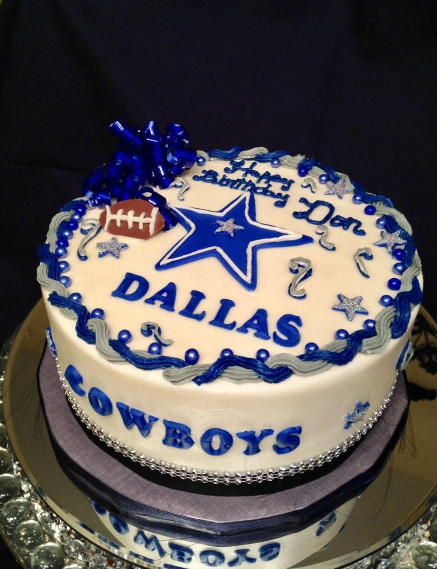Cowboys Birthday Cake Dallas Cowboy Birthday Cake Marie Cake Decorating Pinterest