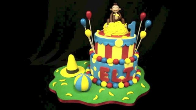 Curious George Birthday Cake Curious George Birthday Cake Youtube